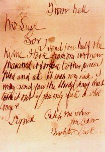 切り裂きジャックの手紙(wikipediaより)